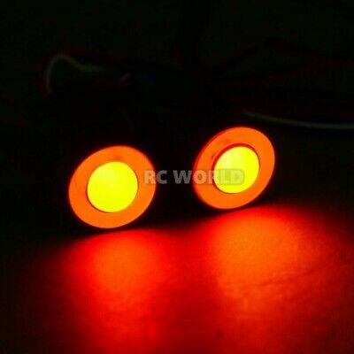 RC LED Lights HALO Rings Angel Eye Lights Big 17mm RED Halos w/ YELLOW Center