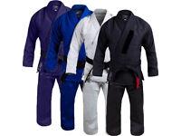 BJJ Gi Mens & Kids Brazilian Jiu Jitsu Suit Uniform Adult & Youth