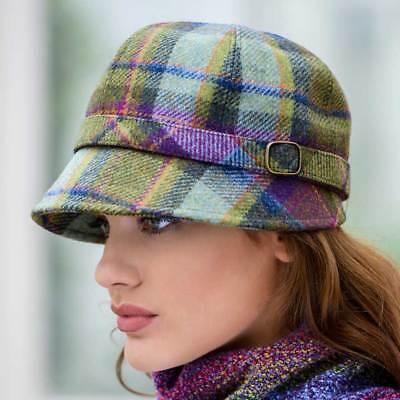 Ladies Plaid Flapper Hat - Tweed Hat, Made in Ireland by Mucros Weavers,  574-1