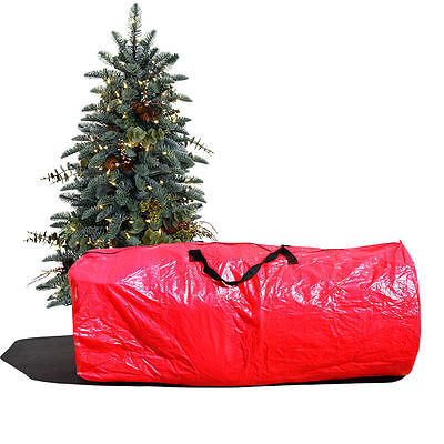 Large Artificial Christmas Tree Carry Storage Bag Holiday Clean Up 9' Red Artificial Tree Storage Bag