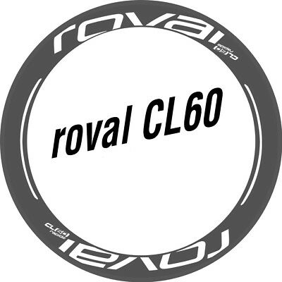 Two Wheel Stickers Set for Roval CL60 CL 60 Road Bike Bicycle Carbon Decals