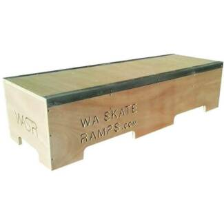 WA Skate Ramps 1.2m Long Skateboard Ledge Grind Box (4ft Long)