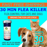 50 CAPSULES Flea Killer For CATS and DOGS 2-25 Lbs. 12 Mg Quick Results