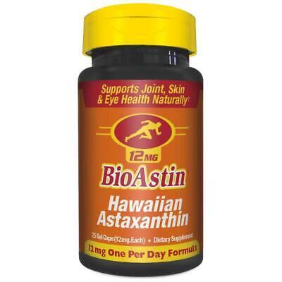 Nutrex Hawaii BioAstin Hawaiian Astaxanthin 12mg 25 ct