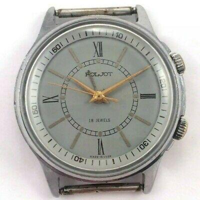 Vintage Classic POLJOT Signal, Manual ALARM wrist watch, USSR *US SELLER* #1495