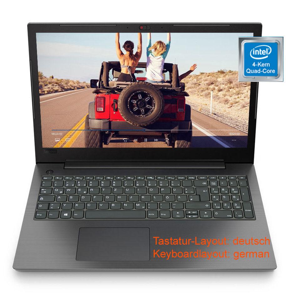 "Notebook 15,6"" Laptop Lenovo V130 Intel 4-Core 8GB DDR4 256GB SSD DVD Windows 10"