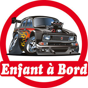sticker autocollant auto voiture enfant bord voiture tuning 16x16cm r f 165 ebay. Black Bedroom Furniture Sets. Home Design Ideas