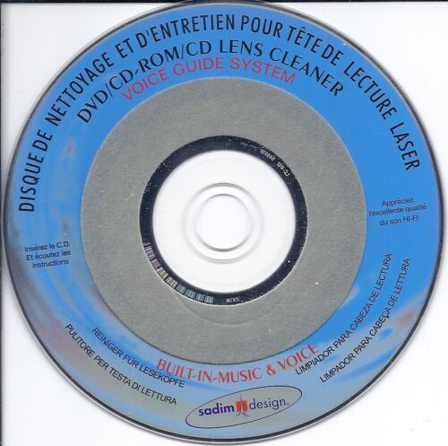DVD VCD CD Lens Cleaner (Voice Guide System)