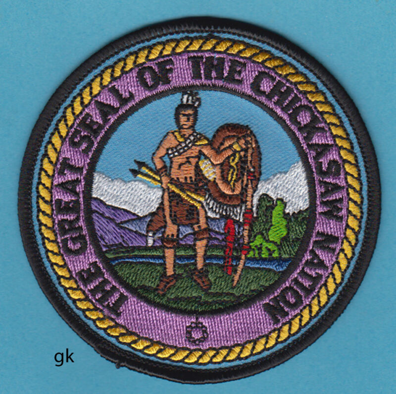 CHICKASAW NATION TRIBAL SEAL  PATCH