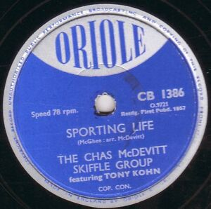 RARE-SKIFFLE-78-CHAS-McDEVITT-SPORTING-LIFE-FACE-IN-THE-RAIN-ORIOLE-CB-1386-EX