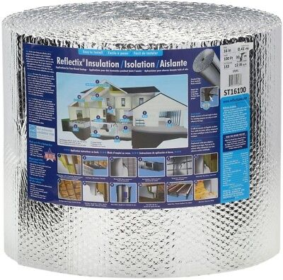 Double Reflective Insulation Staple Tab Attic Wall Floor Radiant Barrier St16100