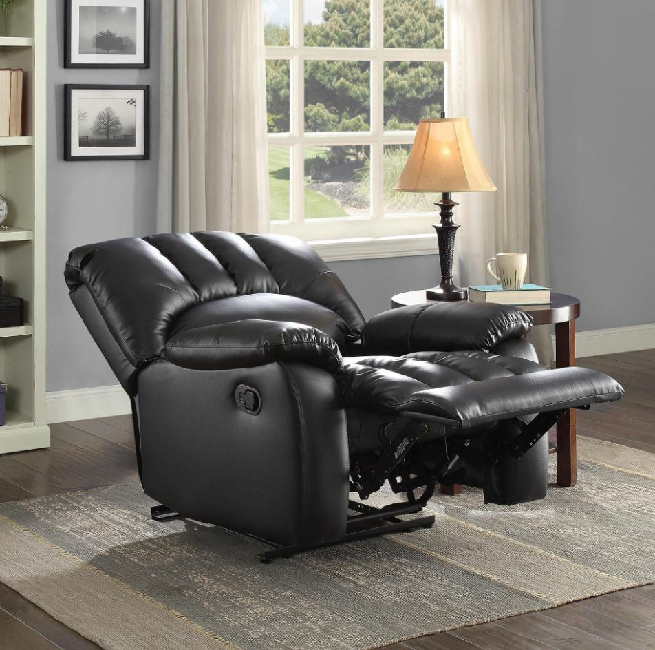 Man Recliners Clearance Chairs Men Women Black Faux Leather