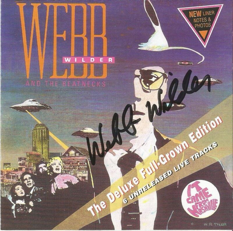 Webb Wilder Autographed It Came From Nashville CD