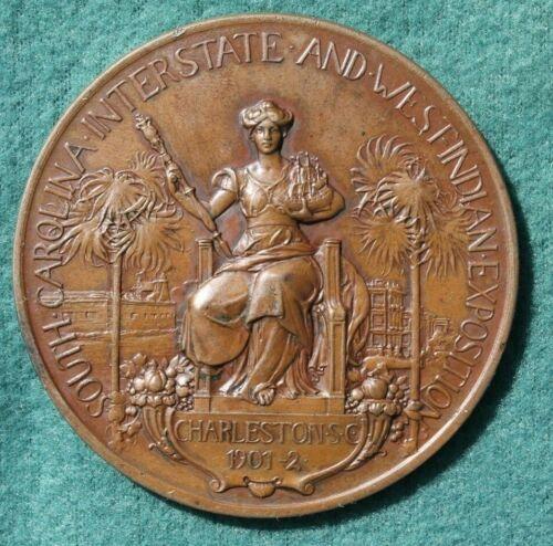 1901-02 SC INTER & WEST IND. EXPO CHARLESTON SC EXHIBITOR MEDAL VETTERLEIN BROS
