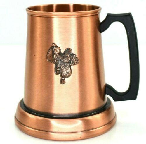 Fantasy Copperware Ltd. Horse Saddle Tankard Tavern Canadian Mug In Solid Copper