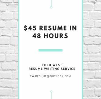 professional resumes perth