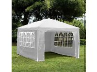 4x3 metre white gazebo steel structure PE coverings