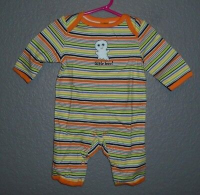 Halloween - TARGET Outfit ONEPIECE COVERALL-3-6 mo -StrIped Little BOO - - Halloween Outfits Target