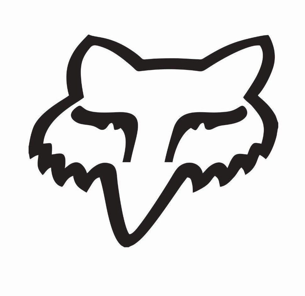Fox Racing Fox head MX Motocross Vinyl Die Cut Car Decal Sticker - FREE SHIPPING