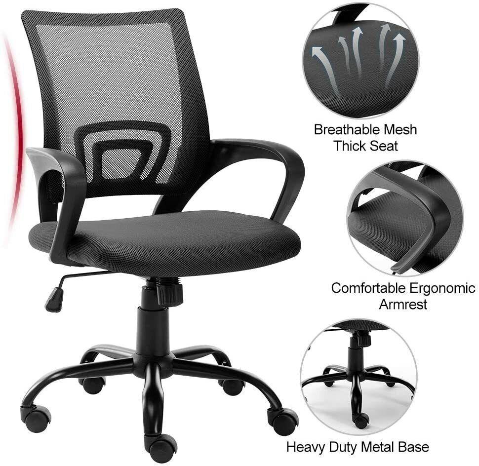 Lumisource Tesla Adjustable Mid Back Office Chair White For Sale Online Ebay
