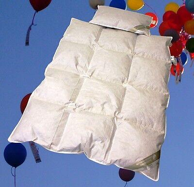 Set Kinder Baby Daunenbett 100x135 cm Daunendecke +  Kissen 40x60 100% Daunen