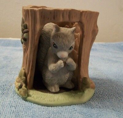 Vintage Franklin Porcelain Jacqueline Smith Woodland Surprises Squirrel Figurine