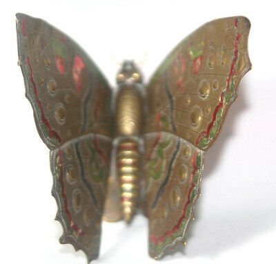 Original ANTIQUE c1872  W. Avery & Son Redditch ~~ ENAMEL BUTTERFLY NEEDLE CASE