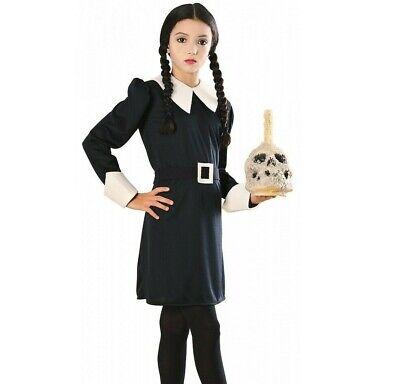 Wednesday Addams Costume Kids Girls Addams Adams Family Funny - S, M, L - - Funny Girls Costume