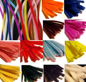 50-x-CRAFT-PIPE-CLEANERS-CHENILLE-STEMS-STICKS-30CM-IN-LENGTH-15-COLOUR-CHOICES