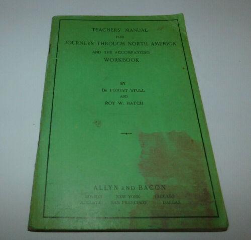 VINTAGE 1948 TEACHERS MANUAL FOR JOURNEYS THROUGH NORTH AMERICA