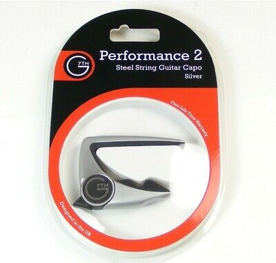 G7th Performance 2 Professional Acoustic & Electric Guitar Capo - Silver