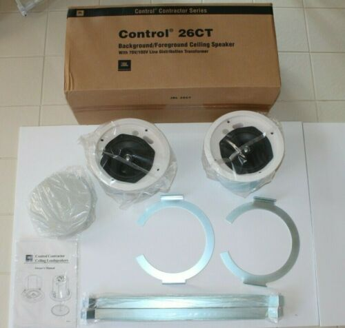 "JBL Control 26CT 6.5"" Coaxial Ceiling Loudspeakers - 1 Pair - White NEW!"