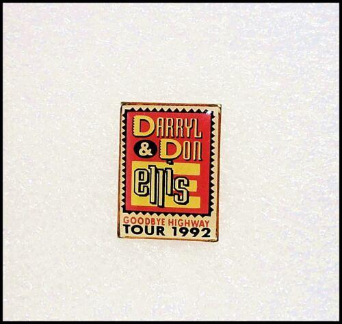 Darryl & Don Ellis Goodbye Highway 1992 Tour Enamel Pin Badge
