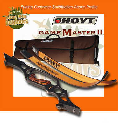 Lh Hoyt Gamemaster Game Master Ii Recurve Black & Maple 62 45lb Free Ship