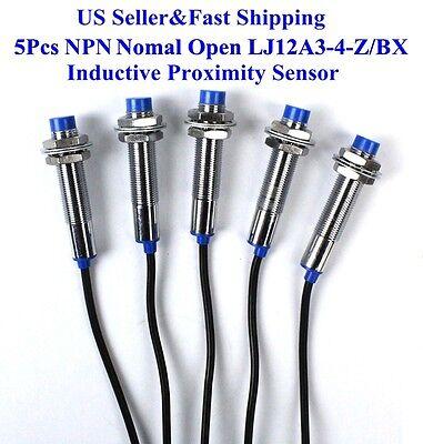 5pcs Lj12a3-4-zbx Npn Nomal Open Inductive Proximity Sensor Switch Dc6v-36v