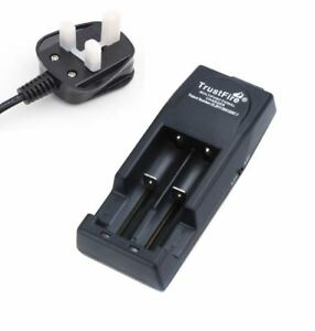 UK TRUSTFIRE CHARGER for SAMSUNG LG SONY ASPIRE 18650 Vape MOD E-cig + UK PLUG