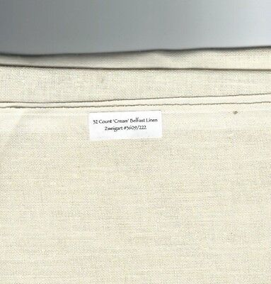 32 Ct CREAM Belfast Linen, Zweigart #3609/222 Sixth or Eighth-Your size choice