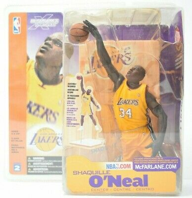 Shaquille O'Neal McFarlane NBA SportsPicks Series 2 Yellow Jersey Action Figure