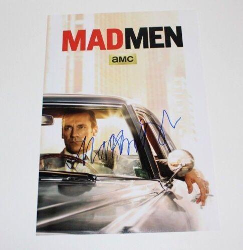 MAD MEN CREATOR MATTHEW WEINER SIGNED 12x18 TV SHOW POSTER PHOTO COA DON DRAPER