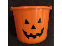 Plastic pumpkin Halloween bucket