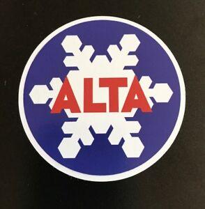 Alta Ski Resort Sticker - Skiing Snowboarding Utah Mountain Sports Powder Snow