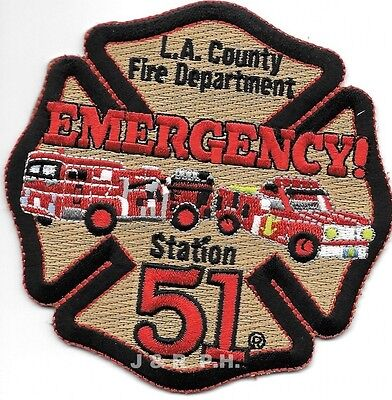 Los Angeles Co  Station 51  Ca  Emergency    4  X 4   Fire Patch