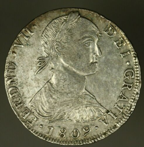 Peru Silver  8 Reales 1809  LIMAE JP Imaginary Bust XF+ minor hairlines  A1474