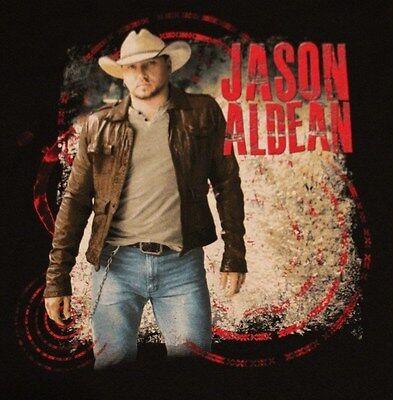 JASON ALDEAN COUNTRY MUSIC CONCERT BLACK T SHIRT TEE TSHIRT ADULT S NEW