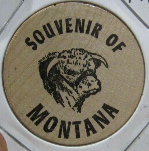 Vintage Souvenir of Montana Wooden Nickel - Token MT Mont.
