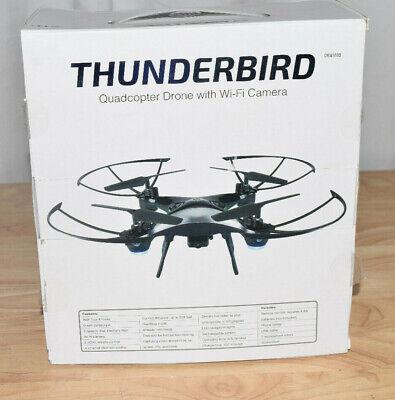 Sky Rider Thunderbird Quadcopter Drone with Wi-Fi Camera, DRW389, Dark