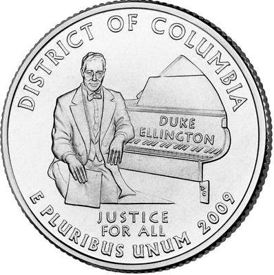 2009 D  District Of Columbia Quarter Bu From Original Bank Bags