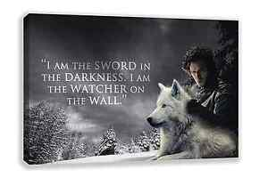 JON SNOW GAME OF THRONES HIGH QUALITY CANVAS WALL ART 30