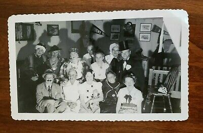 1930's HALLOWEEN SNAPSHOT PHOTO adults in silly costumes & drag - 1930s Halloween Costumes
