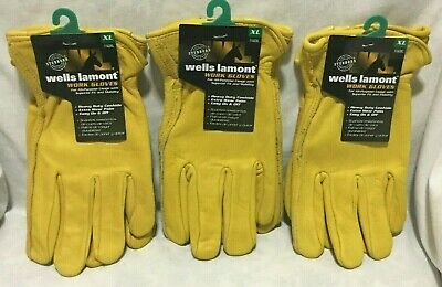 Lot Of 3 Wells Lamont Leather Work Gloves X Large Mens - 3 Pack